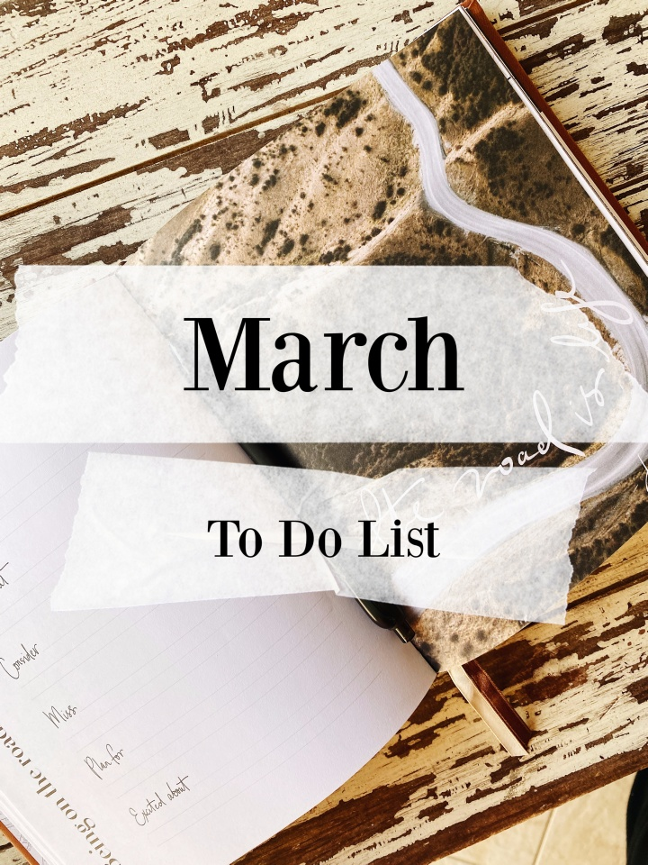 Arianna's March To Do List