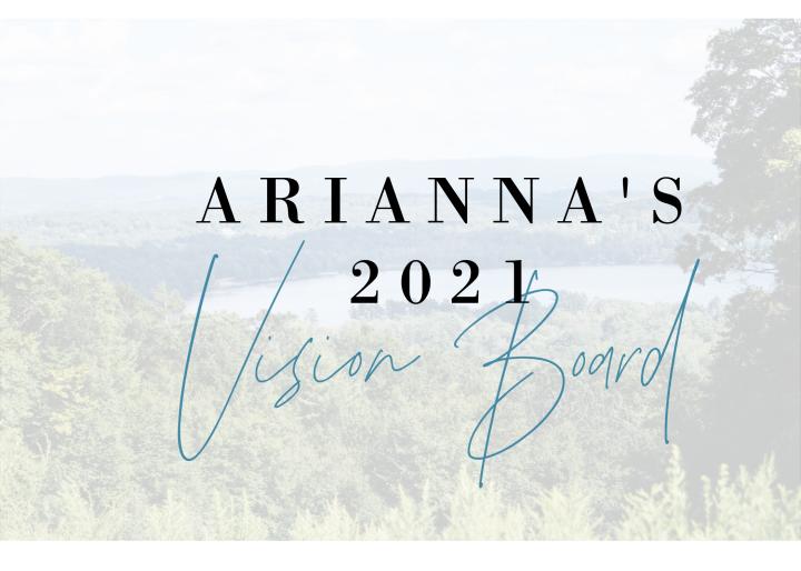 Arianna's 2021 VisionBoard